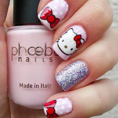 Hello Kitty Nails 53 Best Hello Kitty Nail Art