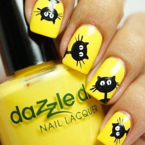 Yellow Nails – 28 Best Yellow Nails for 2018 - Yellow Nails - 28 Best Yellow Nails For 2018 - Best Nail Art