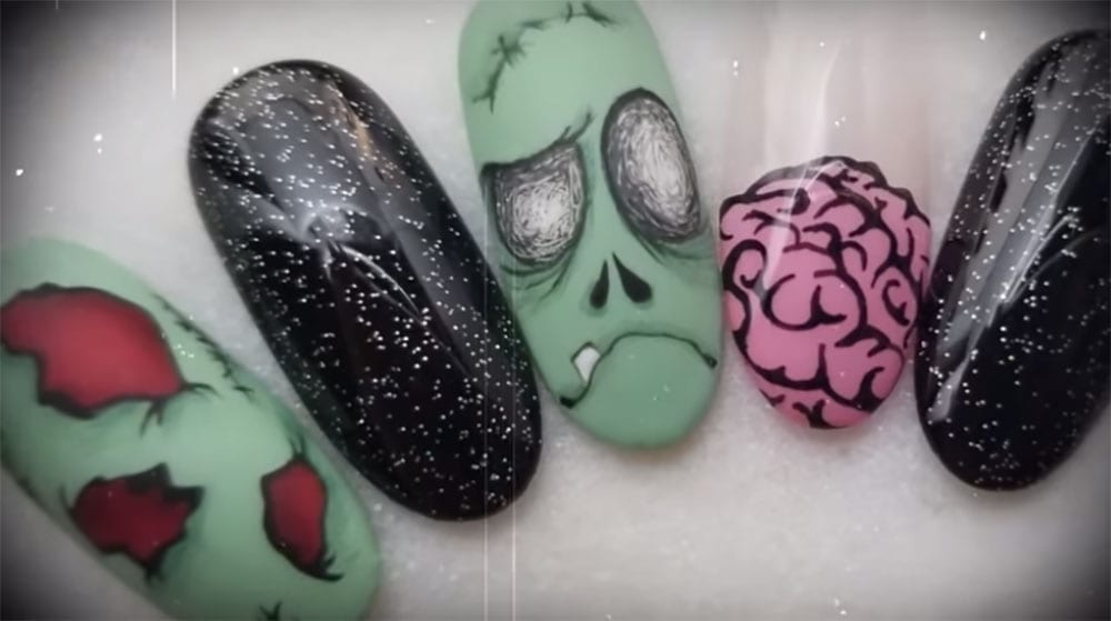 - Zombie Nail Art That Is Drop Undead Gorgeous!