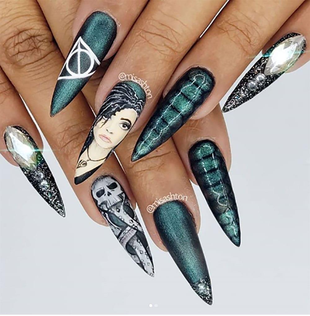 Dahlia Nails Ravenclaw Nail Art: 50 Wicked Harry Potter Nail Designs